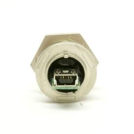 Waterproof USB Coupler - Mini-B - Panel Mount - Zinc Alloy - Metal