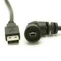 USB Waterproof Left Angle Mini-B Connector
