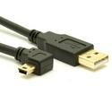 USB 2.0 A to Right Angle Mini-B Cable - LSZH