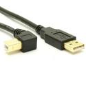 USB 2.0 A to Right Angle B Cable - LSZH