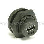 USB Waterproof Coupler - Mini-B female