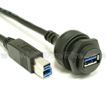 USB 3.0 Waterproof Cable A Female to B Male