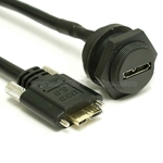 USB 3.0 Waterproof Connector with 22AWG Power