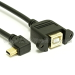 USB 2.0 Extension Cable (A to Left Angle Mini-B)