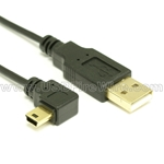 Ultra-Thin USB 2.0 Cable (A to Right Angle Mini-B)