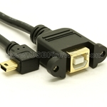USB 2.0 B to Angled Mini-B Extension Cable