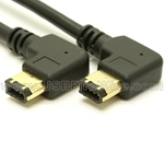 FireWire Device Cable (Double Left Angle)