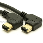 FireWire Device Cable (Right to Left Angle)