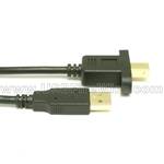 USB 2.0 A Male to B Male Extension Cable - Panel Mount
