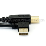 USB 2.0  Left Angle A to B Cable