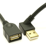 USB 2.0 Left Angle Extension Cable - 45 degree