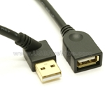 USB 2.0 Extension Cable - 45 degree angle