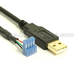 USB 2.0 Cable to AMP 3-640442-4