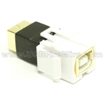 USB 2.0 Gender Changer - BF/BF - White