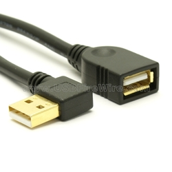 USB 2.0 Right Angle Extension Cable