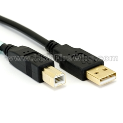 USB 2.0 A to B Cable - LSZH