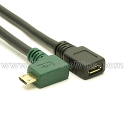 USB 2.0 OTG Right Angle Adapter Cable
