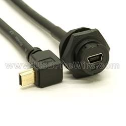 USB 2.0 Waterproof Plastic Cable - Low Profile
